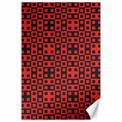 Abstract Background Red Black Canvas 24  X 36