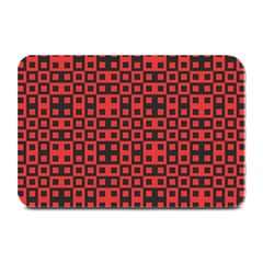 Abstract Background Red Black Plate Mats