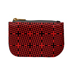 Abstract Background Red Black Mini Coin Purses