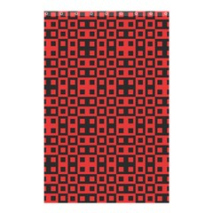 Abstract Background Red Black Shower Curtain 48  X 72  (small)