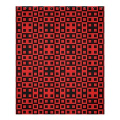 Abstract Background Red Black Shower Curtain 60  X 72  (medium)
