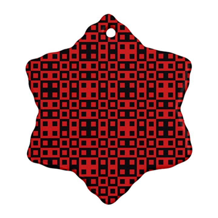 Abstract Background Red Black Ornament (Snowflake)