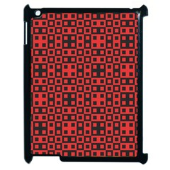 Abstract Background Red Black Apple Ipad 2 Case (black)