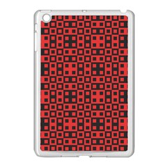 Abstract Background Red Black Apple Ipad Mini Case (white)