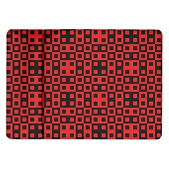 Abstract Background Red Black Samsung Galaxy Tab 10 1  P7500 Flip Case