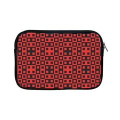 Abstract Background Red Black Apple Ipad Mini Zipper Cases