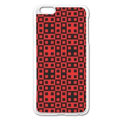 Abstract Background Red Black Apple Iphone 6 Plus/6s Plus Enamel White Case