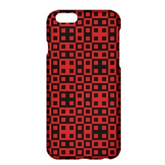 Abstract Background Red Black Apple Iphone 6 Plus/6s Plus Hardshell Case