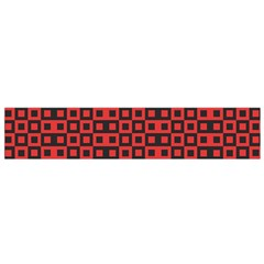 Abstract Background Red Black Small Flano Scarf