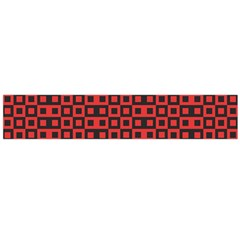Abstract Background Red Black Large Flano Scarf