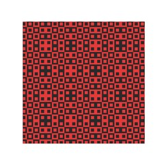 Abstract Background Red Black Small Satin Scarf (square)