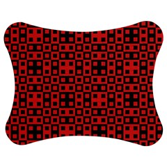 Abstract Background Red Black Jigsaw Puzzle Photo Stand (bow)