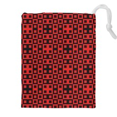 Abstract Background Red Black Drawstring Pouches (xxl)