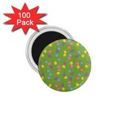Balloon Grass Party Green Purple 1 75  Magnets (100 Pack)