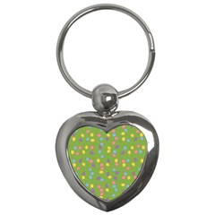 Balloon Grass Party Green Purple Key Chains (heart)