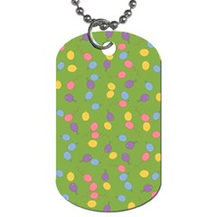 Balloon Grass Party Green Purple Dog Tag (one Side)