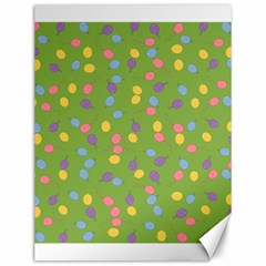 Balloon Grass Party Green Purple Canvas 12  X 16