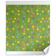 Balloon Grass Party Green Purple Canvas 11  X 14
