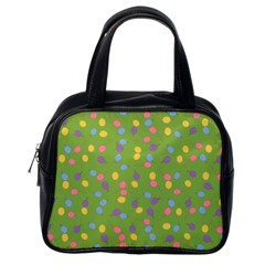 Balloon Grass Party Green Purple Classic Handbags (one Side)