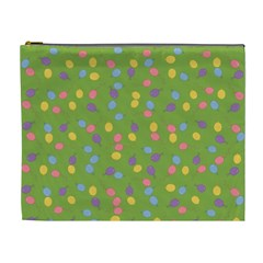 Balloon Grass Party Green Purple Cosmetic Bag (xl)