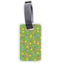 Balloon Grass Party Green Purple Luggage Tags (one Side)