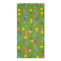 Balloon Grass Party Green Purple Shower Curtain 36  X 72  (stall)