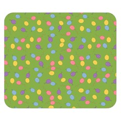 Balloon Grass Party Green Purple Double Sided Flano Blanket (small)