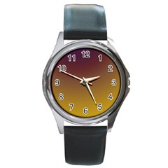 Course Colorful Pattern Abstract Round Metal Watch