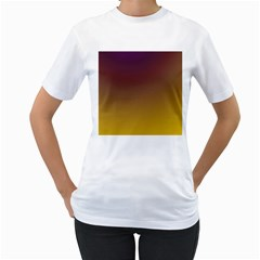 Course Colorful Pattern Abstract Women s T Shirt (white) (two Sided)