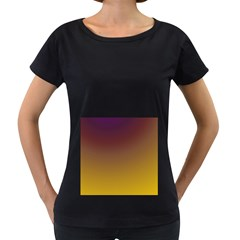 Course Colorful Pattern Abstract Women s Loose Fit T Shirt (black)