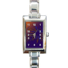 Sylvester New Year S Day Year Party Rectangle Italian Charm Watch
