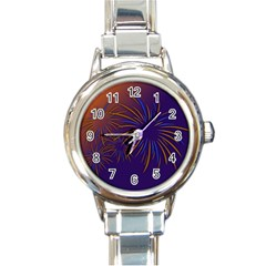 Sylvester New Year S Day Year Party Round Italian Charm Watch