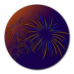 Sylvester New Year S Day Year Party Round Mousepads