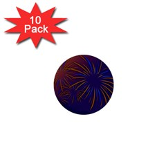 Sylvester New Year S Day Year Party 1  Mini Buttons (10 Pack)