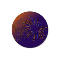 Sylvester New Year S Day Year Party Magnet 3  (round)