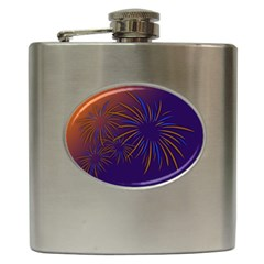 Sylvester New Year S Day Year Party Hip Flask (6 Oz)