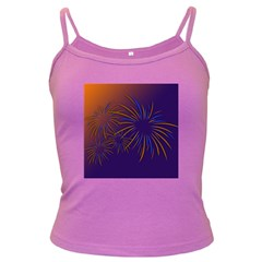 Sylvester New Year S Day Year Party Dark Spaghetti Tank