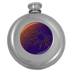 Sylvester New Year S Day Year Party Round Hip Flask (5 Oz)