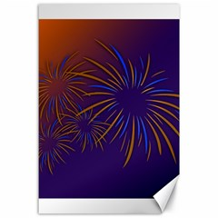 Sylvester New Year S Day Year Party Canvas 24  X 36