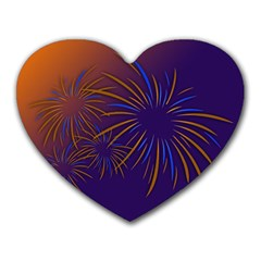 Sylvester New Year S Day Year Party Heart Mousepads