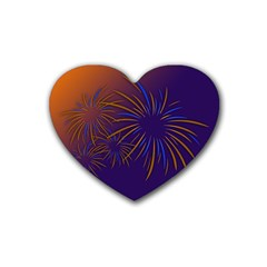 Sylvester New Year S Day Year Party Rubber Coaster (heart)