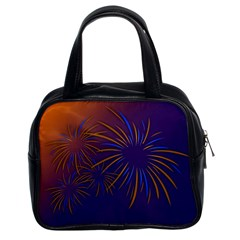 Sylvester New Year S Day Year Party Classic Handbags (2 Sides)