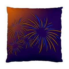Sylvester New Year S Day Year Party Standard Cushion Case (one Side)