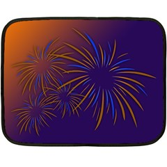 Sylvester New Year S Day Year Party Fleece Blanket (mini)