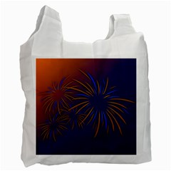 Sylvester New Year S Day Year Party Recycle Bag (two Side)