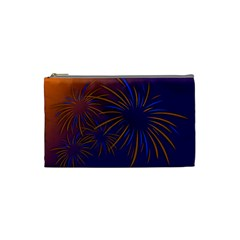 Sylvester New Year S Day Year Party Cosmetic Bag (small)
