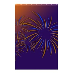 Sylvester New Year S Day Year Party Shower Curtain 48  X 72  (small)