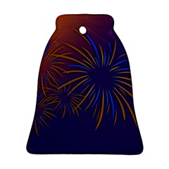 Sylvester New Year S Day Year Party Bell Ornament (two Sides)