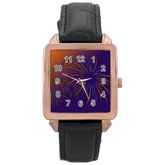 Sylvester New Year S Day Year Party Rose Gold Leather Watch