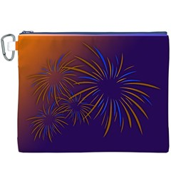 Sylvester New Year S Day Year Party Canvas Cosmetic Bag (xxxl)